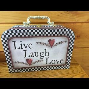 Decorative Cardboard Live, Love, Laugh Box